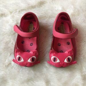 Mini Melissa Ultragirl Pink Mary Jane Cat Slip Ons